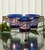 Homesake Blue Iron Crystal Votive - Set of 3