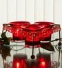 Homesake Red Iron Crystal Votive - Set of 3