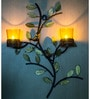 Homesake Yellow Iron Tree with Bird Nest Votive Stand