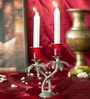 Homesake Red Metal Single Candle Stand