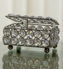 Rectangular Crystal Silver Jewellery Box by Homesake