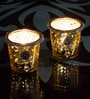 Homesake Gold Glass Jewel Ring & Dangler Votive