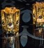Homesake Gold Glass Votive with Star - Set of 2