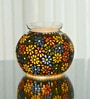 Homesake Multicolour Glass Mosaic Floral Paradise Showpiece