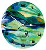 Hoopoe Decor Abstract Canvas Paintaing Theme Trendy Designer Wall Clock