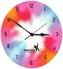 Hoopoe Decor Beautiful Color Wheel Acrylic 11.5 X 11.5 Inch Wall Clock