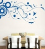 Hoopoe Decor Vinyl Flower on The Branch Wall Sticker