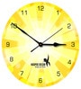 Hoopoe Decor Bright Yellow Trendy Designer Wall Clock