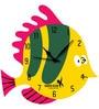 Hoopoe Decor Cute Colorful Fish Kids Wall Clock
