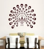 Hoopoe Decor Brown Vinyl Dancing Peacock Wall Decal
