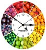 Hoopoe Decor Fruit Basket Trendy Designer Wall Clock