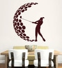 Hoopoe Decor Vinyl Girl Playing Golf Wall Decal