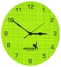 Hoopoe Decor Green Fabric Texture Acrylic 11.5 X 11.5 Inch Wall Clock