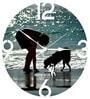 Hoopoe Decor Kid Playing With Dog Trendy Kids Wall Clock