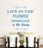 Hoopoe Decor Vinyl Life Is Flower Wall Decal