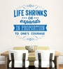 Hoopoe Decor Vinyl Life Shrinks Or Expands Wall Decal