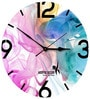 Hoopoe Decor Light Colorful Smoke Designer Wall Clock
