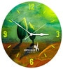 Hoopoe Decor Lotus Flower Bud Painting Acrylic 11.5 X 11.5 Inch Wall Clock