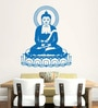 Hoopoe Decor Vinyl Lord Buddha in a Flower Wall Decal