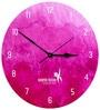 Hoopoe Decor Pink Holi Colour Theme Trendy Designer Wall Clock