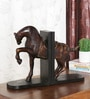 Wenge Solid Wood Horse Bookend by Ethnic Clock Makers