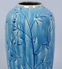 Blue Ceramic Decorative Floral Vase by Hosley