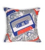 Blue Cotton 16 x 16 Inch Gadgets-Cassette Cushion Cover by House This
