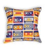 Blue Cotton 16 x 16 Inch Gadgets-Retro Rewind Cushion Cover by House This