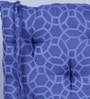 House This Blue Cotton 16 x 16 Inch Jharokha Jaali Chair Pad