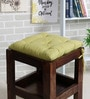 Green Cotton 16 x 16 Inch Frida Sombre Chair Pad by House This