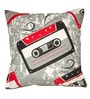 House This Multicolor Cotton 16 x 16 Inch Cassette Cushion Cover