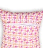 House This Pink Cotton 16 x 16 Inch The Psychedelic Flower Cushion Cover