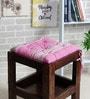 Purple Cotton 16 x 16 Inch The Barcode Stripes Chair Pad by House This