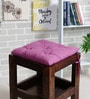 Purple Cotton 16 x 16 Inch Valley of Flowers Flora Chair Pad by House This