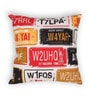 House This Red Cotton 16 x 16 Inch Bike-Number Plates Cushion Cover