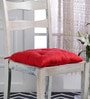 House This Red Cotton 16 x 16 Inch Solid Chair Pad