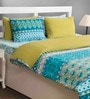 House This Sea Green Cotton 108x90 INCH Duvet Cover