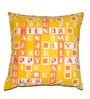 House This Yellow Cotton 16 x 16 Inch Cushion Cover