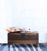 Hudson Solid Wood Small Blanket Box in Provincial Teak Finish