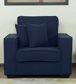 Hugo One Seater Sofa in Navy Blue Colour