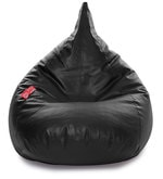 HumBug XXL Bean Bag with Beans in Black Colour