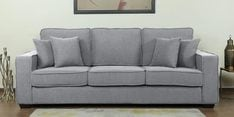 Hugo Three Seater Sofa in Ash Grey Colour