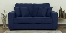 Hugo Two Seater Sofa in Navy Blue Colour