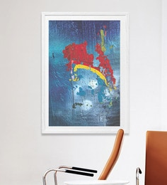 HULKUT  Sun Board 26 X 38 Inch Light On The Other Side Framed Art Print