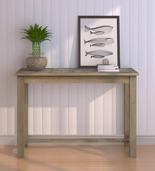 Hudson Solid Wood Console Table In Olive Finish By Woodsworth