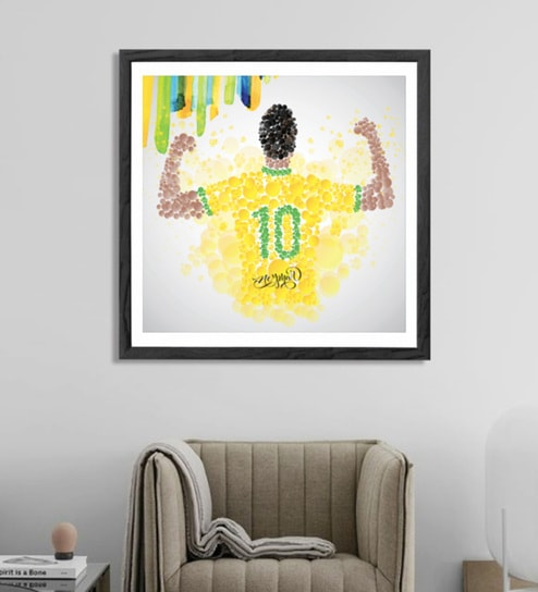 Buy Sun Board 26 x 26 Inch Presents Neymar Framed Poster by Hulkut ...