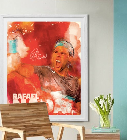 Buy Sun Board 26 X 32 Inch Presents Rafael Nadal Framed Poster By