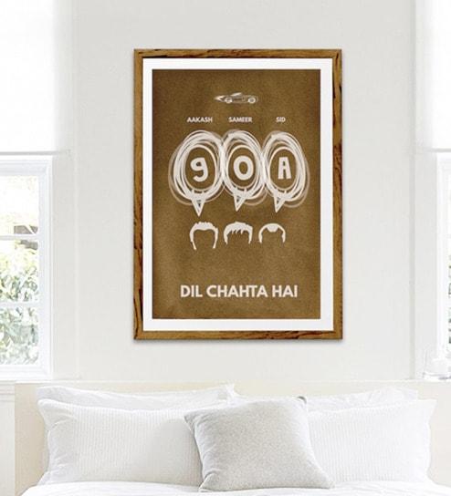Buy Sun Board 26 x 38 Inch Goa Ride - Dil Chahta Hai Framed Poster ...