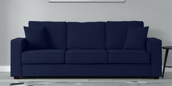 Buy Hugo 3 Seater Sofa In Navy Blue Colour Woodsworth By Pepperfry Online Lawson Sofa Sets Sofa Sets Furniture Pepperfry Product