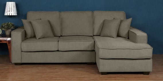 Pleasant Hugo Lhs 2 Seater Sofa With Lounger In Sandy Brown Colour By Woodsworth Pabps2019 Chair Design Images Pabps2019Com